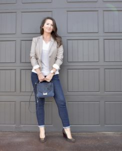 Blazer, jeans, wedges, skinny jeans, tory burch, kate spade, H&M, banana republic, old navy