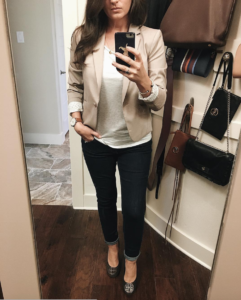 OOTD   Outfit of the Day   Workwear   Outfit Inspiration   Blazer   Denim   Tory Burch