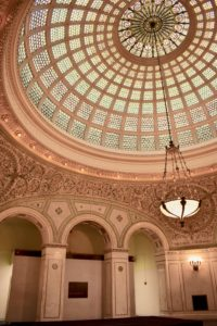 Architectural Tour of Chicago| Chicago Cultural Center Tiffany Dome Ceiling | Cathedrals and Cafes Blog