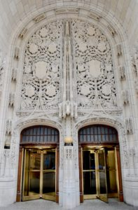 Architectural Tour of Chicago| Tribune Tower Doors | Cathedrals and Cafes Blog