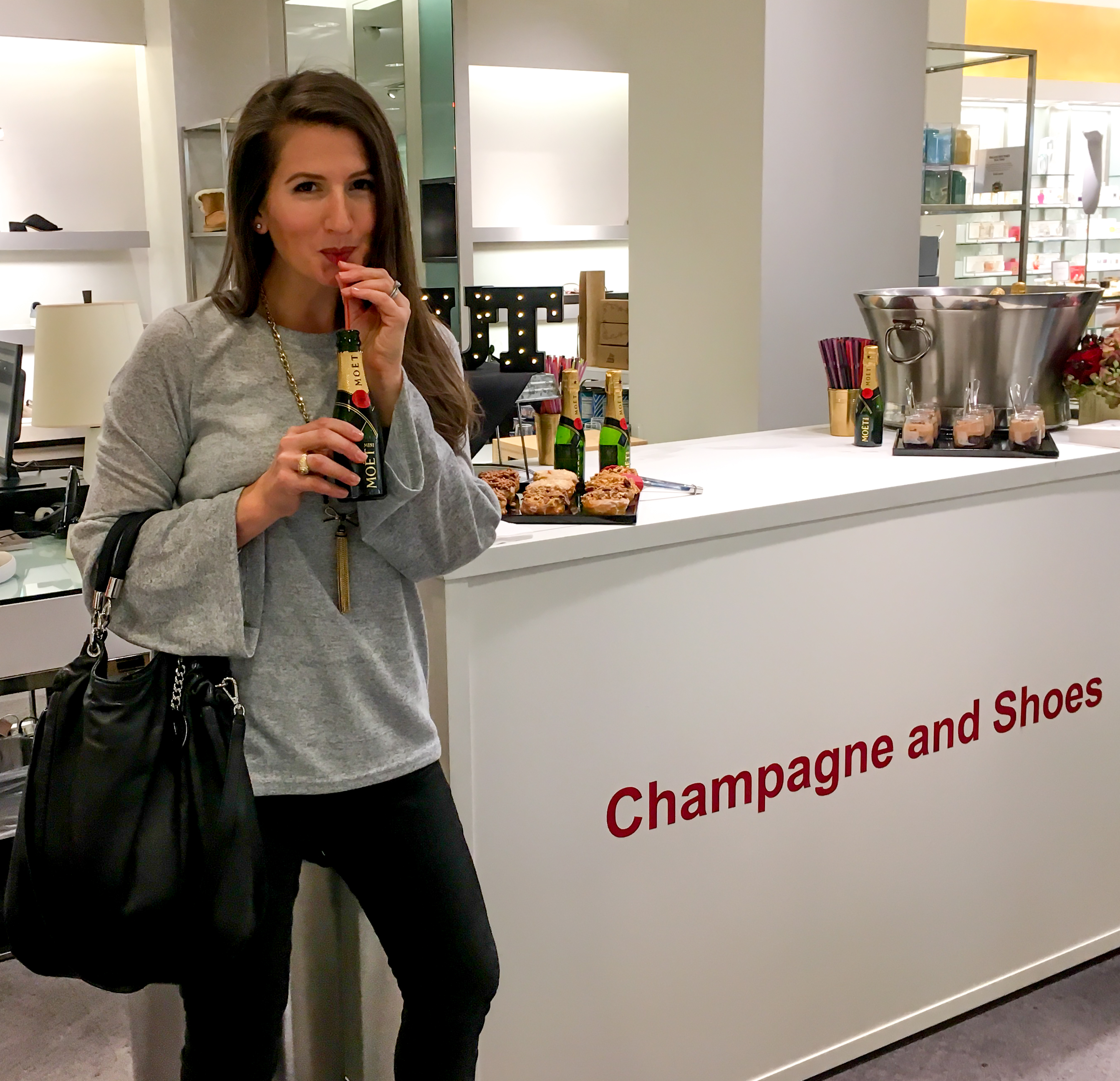 Mini Moet Bottles at Neiman Marcus Champagne and Shoes Event | San Antonio, TX | Cathedrals and Cafes Blog