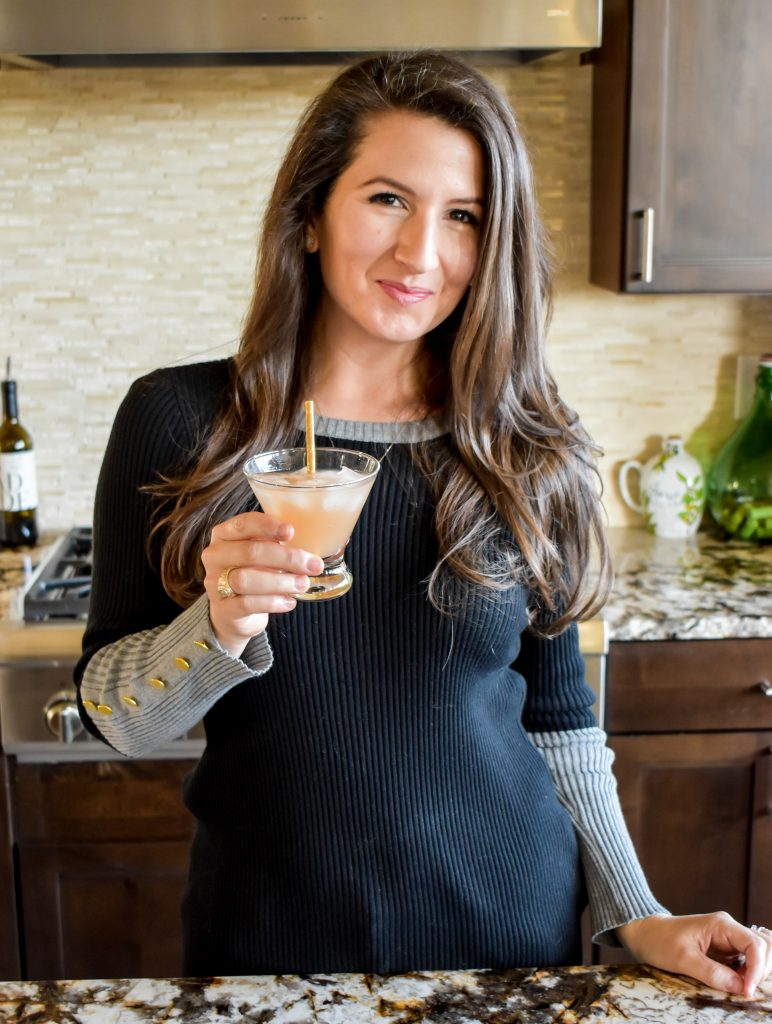 Erin from Cathedrals and Cafes Blog serves up a Galentine's Day Gin Cocktail