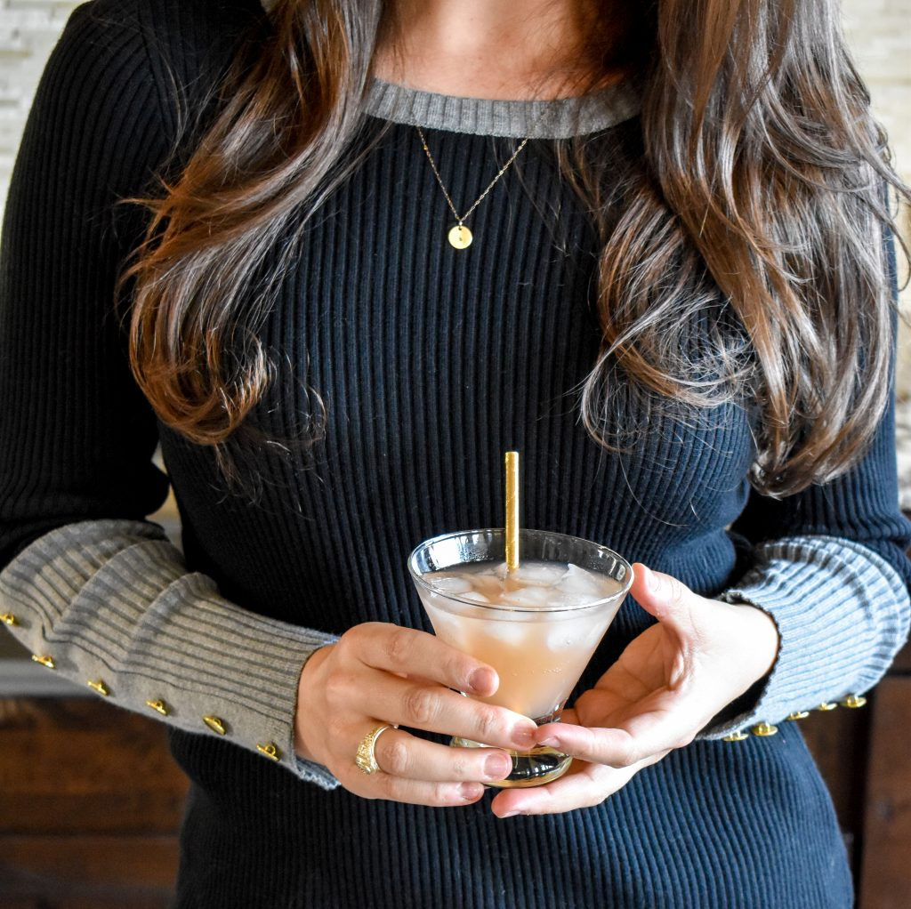 Erin from Cathedrals and Cafes Blog shares a Galentine's Day cocktail recipe