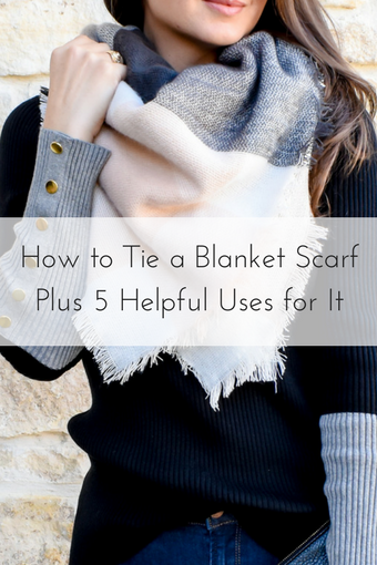 How to Tie a Blanket Scarf on Cathedrals and Cafes Blog
