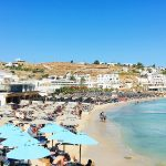 Friday Favorites No 2 | Mykonos | Greek Islands | Beach | Umbrellas | Cathedrals and Cafes Blog
