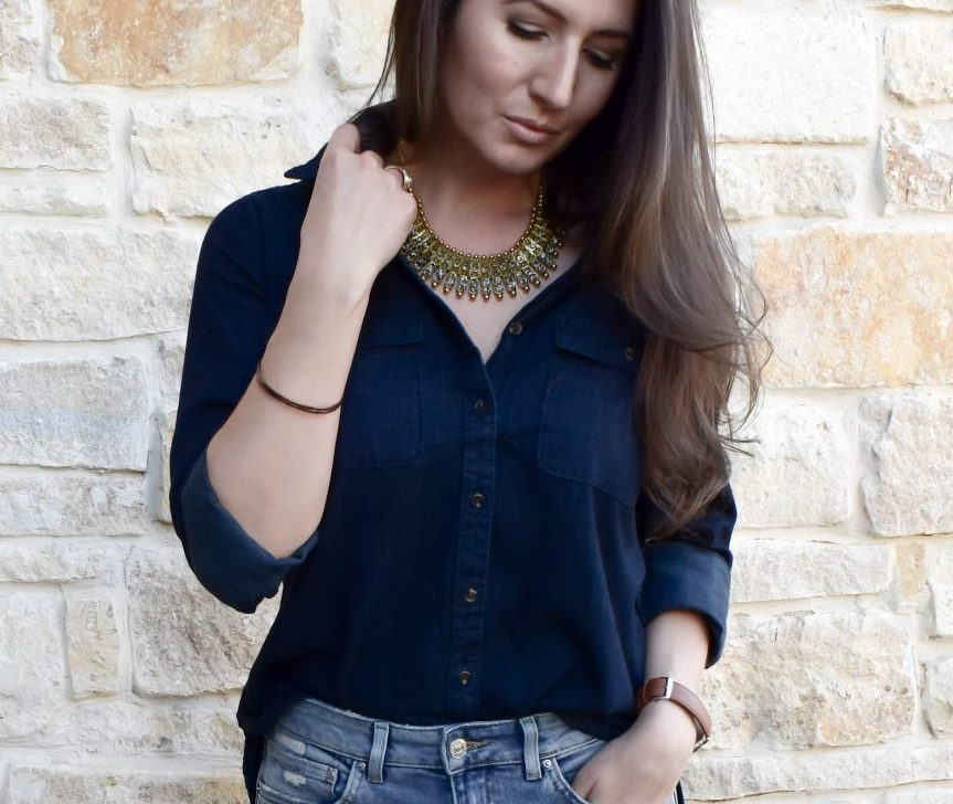 5 Easy Tips for Wearing Denim on Denim Without Looking Crazy | Denim on Denim Trends | How to Wear Denim on Denim | Cathedrals and Cafes Blog