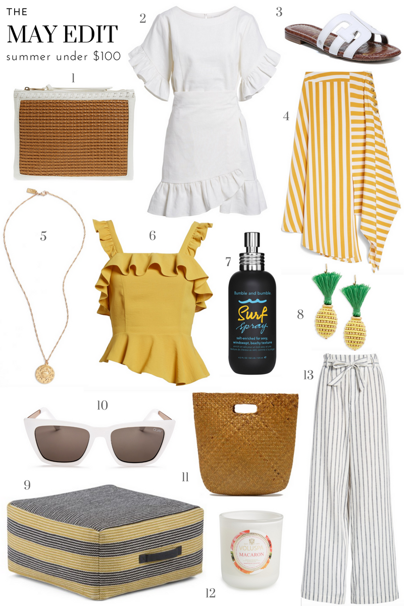 May Edit _ Summer Style _ Summer Fashion _ Summer Dresses _ Straw Bag _ Ruffle Dress _ Under $100 _ Affordable Summer Looks _ Cathedrals and Cafes Blog