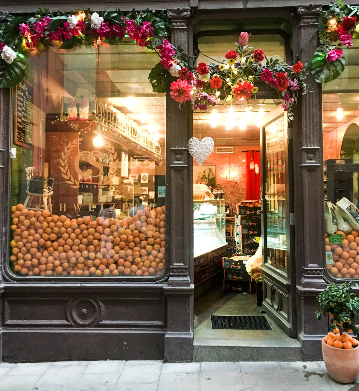 A beautifully decorated store front in Stockholm Sweden