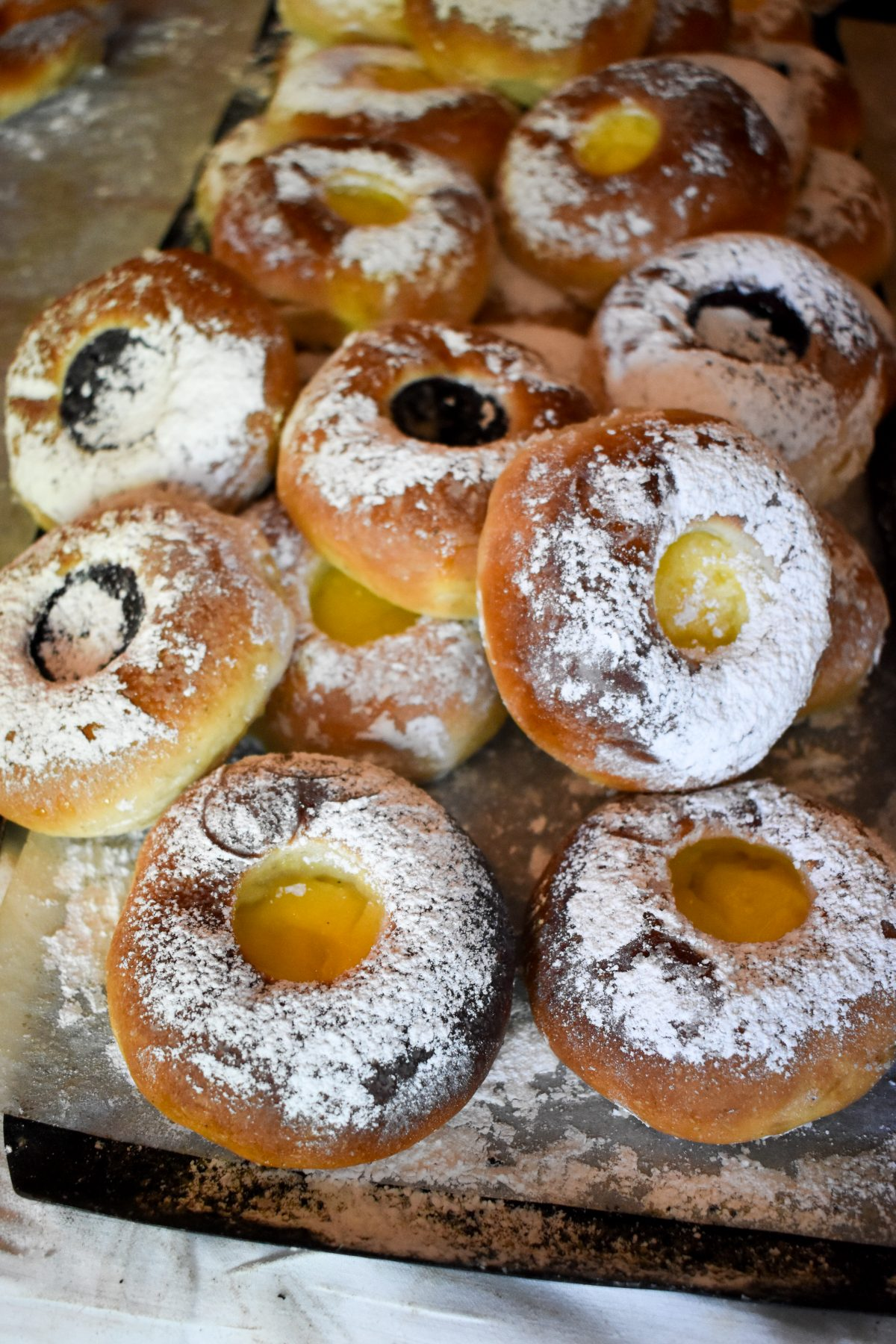 A selection of Swedish fruit filled pastries