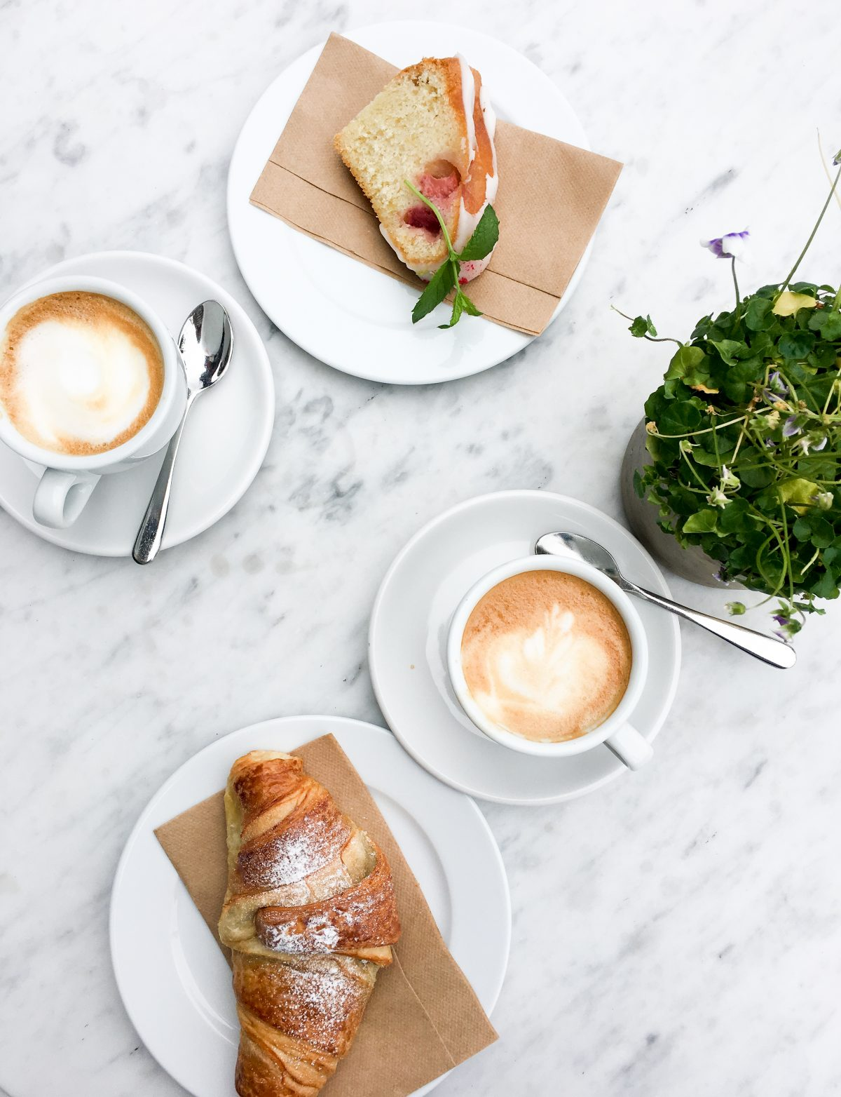 A flatlay view of Swedish fika