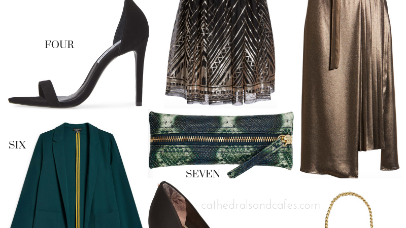November Style Edit _ Emerald Green _ Gifts _ Party Looks _ Cathedrals and Cafes Blog