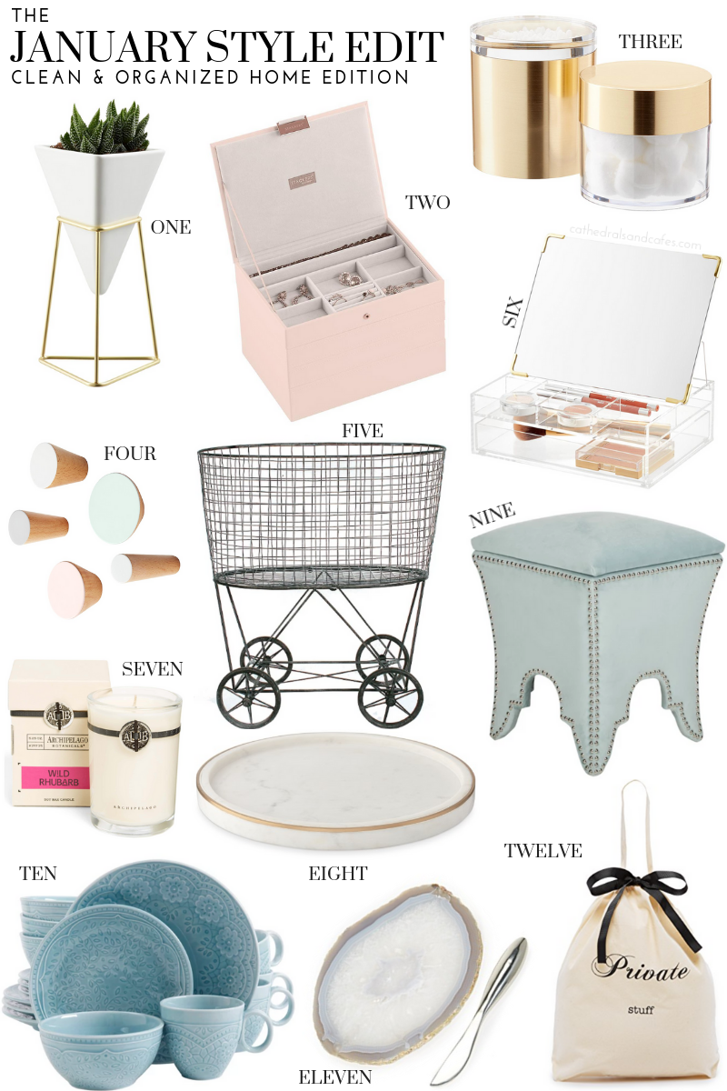 January Style Edit: Clean & Organized Home Edition | Cathedrals and Cafes Blog